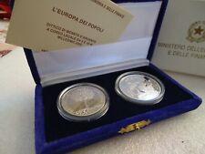 5 e 10 euro  Proof Repubblica Italiana 2003 L'europa dei popoli
