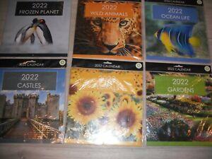 2022 Wall Calendar Square  Calendar, Month to View Planner 6 Designs;- U Choose.
