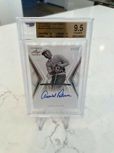 Arnold Palmer 2012 Leaf Ultimate Silver Foil ON CARD AUTO 07/25 BGS 9.5