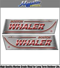 BOSTON WHALER - 410mm x 110mm X 2  - BOAT DECALS
