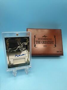 """Muhammad Ali 2012 Leaf """"The Greatest"""" Worn Relic oncard Auto 1/1 74'Forman Fight"""