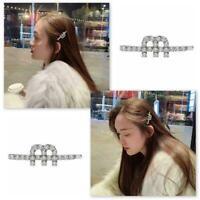 Women M Letter Alphabet Hairpins Crystal Rhinestone Hair Cosplay Clip X8O2