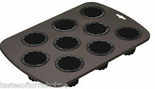 Masterclass Professional 9 Hole Fluted Canale Non Stick Cake Tin Baking Tray