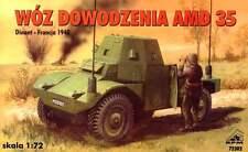 PANHARD AMD 35  - WW II COMMAND VEHICLE (FRENCH ARMY 1940 MARKINGS) 1/72 RPM