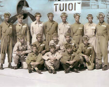 "THE TUSKEGEE AIRMEN AFRICAN AMERICAN WWII PILOTS 11x14"" HAND COLOR TINTED PHOTO"