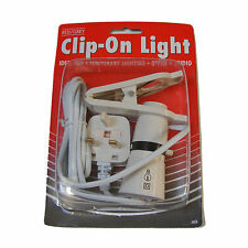 CLIP ON 240V LIGHT WITH SWITCH 1.5M CABLE 60W MAX - NEW
