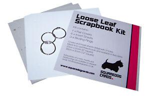 """Scrapbook Album Kit  8"""" x 8"""" - Plain Loose Leaf Album"""