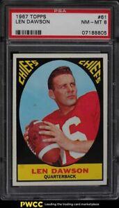 1967 Topps Football Len Dawson #61 PSA 8 NM-MT