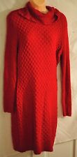 women's Apt. 9 sexy red shimmering sweater dress size large cowl neck MSRP $60