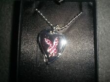 playboy dogtag pink crystal stainless bunny necklace giftbox
