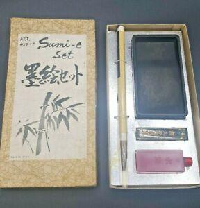 Sumi-e Chinese Calligraphy Japanese Wood Painting Writing Brush Brush Pen Set
