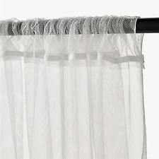 1 Pair of IKEA LILL White Long Net Curtains Window Lace Sheer Blinds 250x280cm