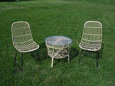 Stuhl und Tisch Rattan
