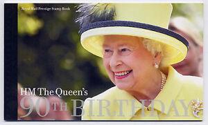GB 2016 90th BIRTHDAY of QUEEN ELIZABETH II PRESTIGE BOOKLET DY17