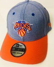 NEW ERA NEW YORK KNICKS DENIEM BLUE FITTED HAT CAP 39THIRTY MEN SZ 7