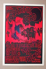 Grateful Dead Concert Tour Poster 1969 San Fran Black