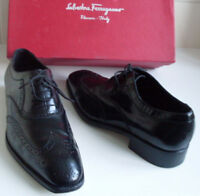 SALVATORE FERRAGAMO Black Formal Lace Up Shoes Size US 7.5 EU 40.5 UK 6.5, 7
