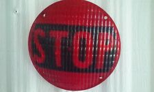"Cats Eye #55 Red ""Stop"" Light Lens SAE Wisc -63"