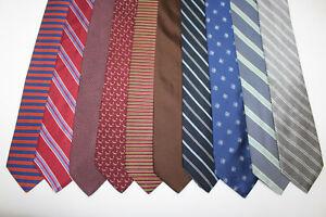 LOT OF 10 BROOKS BROTHERS silk ties. F4689