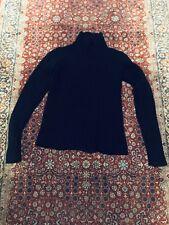 Helmut Lang Black Ribbed Mock Turtleneck Sweater   Vintage Collector's Piece