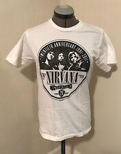 "Original Nirvana ""Nevermind"" 2011 20th Anniversary Promo T-Shirt + Pin Rare!"
