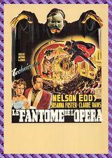 Cartolina Manifesto del Film - LE FANTASMA de L'OPERA ( Piogge, Foster)