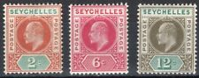 SEYCHELLES 1903 STAMP Sc. # 38 AND 40/1 MH