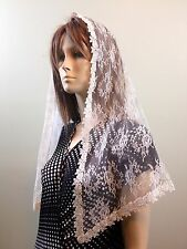 Ivory cream veils and mantilla Catholic church chapel scarf lace Mass latin IVFL