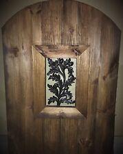 Wood gate Window,Wrought Iron Acorn Pattern, door steel insert, entry panel