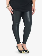Torrid Faux Leather Panel Leggings Black Size 2 AKA 2 XL 18 20 #3672