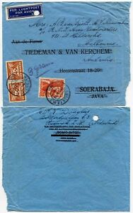 NETHERLANDS to NEI AIRMAIL REDIRECTED to RNI ARMY AUSTRALIA 1945