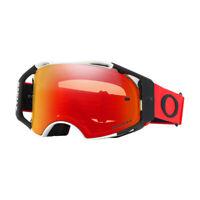 Oakley Airbrake MX Goggle (Red/White) Prizm Torch Iridium Lens Free UK Post