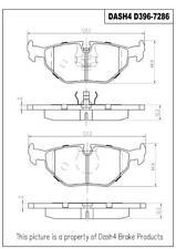Disc Brake Pad Set-Eng Code: M54 Rear,Front Dash 4 Brake CD396