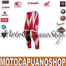 PANTALONE TAGLIA 46 ACERBIS MOTO BRAND ROSSO CROSS ENDURO QUAD MX