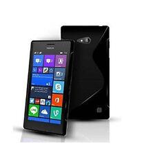 Pour microsoft lumia 640 Coque Gel Silicone S-Line Noir