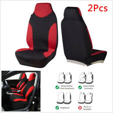 2Pcs High Back Bucket Car Seat Cover Front Seat Cushion Red&Black Sports Style