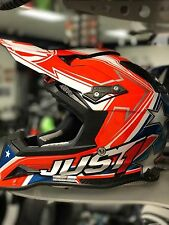 JUST 1 J12 Carbon Aster USA Helmet XL Extra Large Carbon Fiber NEW Motorcycle MX