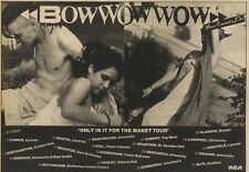 3/10/81PGN51 ADVERT: BOW WOW WOW ONLY IN IT FOR THE MANET TOUR OCT81 7X11