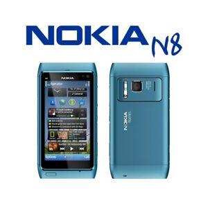 "TELEFONO CELLULARE TOUCHSCREEN NOKIA N8 BLU 3,5"" 3G WIFI HDMI CARL ZEISS-"