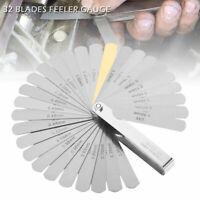 FEELER GAUGE SET METRIC/IMP GUAGE INCLUDES BRASS BLADE UK 32 BLADE