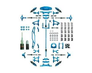 Yeah Racing Tamiya TT-02 Aluminum Upgrade Kit (Blue) [YEA-CK-TT02BU]