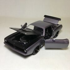 "1973 Plymouth Barracuda, 8.25"" Diecast, 1:24 Scale, Collectible, Jada Toy, Black"