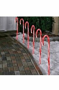 10 Pack LED Candy Cane Path Red & White Light For Indoor & Outdoor