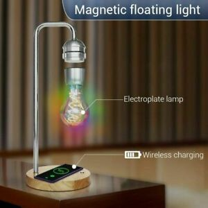 Wireless charging floating desk lamp office home creative floating light bulb