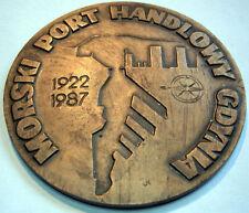 Medaille Polen Polska - 1987 Port Gdynia - Morski Port Handlowy Gdynia