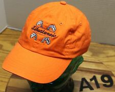 YOUTH ZIHUATANEJO MEXICO HAT ORANGE W/DOLPHINS STRAPBACK ADJUSTABLE VGC A19