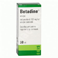 Betadine solution, 30 ml, Egis Pharmaceuticals