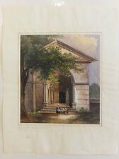 Rhône Aquarelle Notre-Dame de Fourvières Lyon 1841