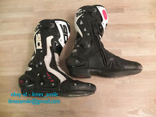 SIDI ST Race Motorcycle Boots White + Black Size 44 UK 9.5 - more like 9 / 43