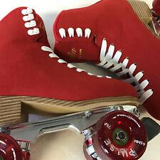 Jackson Vista Alloy Glitter Skates Red 7.0 +